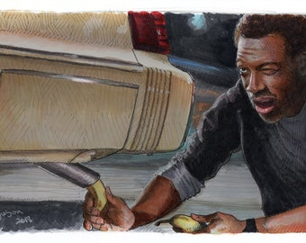 Beverly Hills Cop - Old Banana in the Tailpipe Poster Print