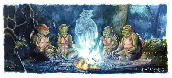 Teenage Mutant Ninja Turtles -  I love you all, my sons Print