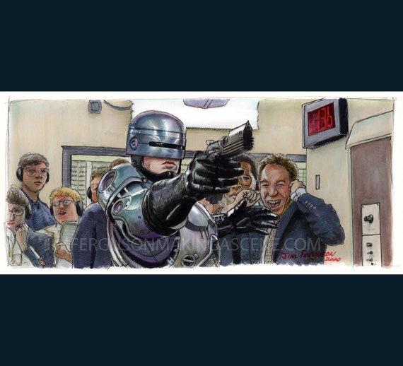 Robocop - Art Print Movie Poster By Jim Ferguson