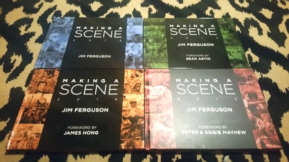 SALE!  Set of 4 Making a Scene Art Books by Jim Ferguson
