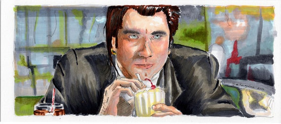 """Pulp Fiction """"I Gotta Know what a Five Dollar Shake Taste Like"""" Poster Print"""