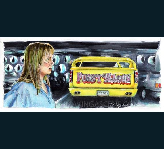 Kill Bill -  Pussy Wagon Poster Print By Jim Ferguson