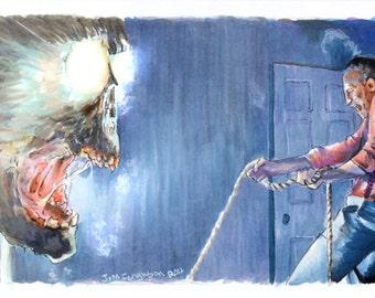 Poltergeist - Closet Ghost  Art Poster Print