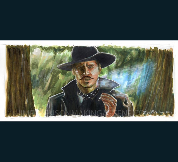Tombstone - I'm Your Huckleberry   Poster Print By Jim Ferguson