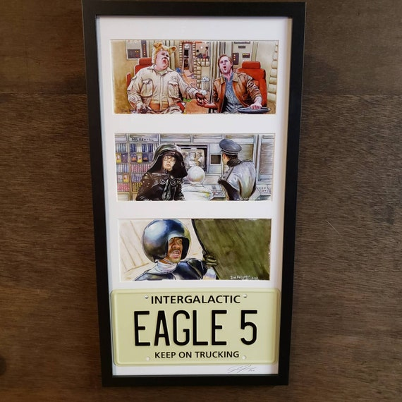 3 Framed Spaceballs prints with License Plate By Jim Ferguson