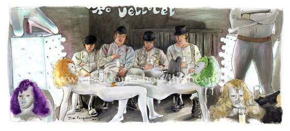 Clockwork Orange - Alex and his Three Droogs  Art Poster Print