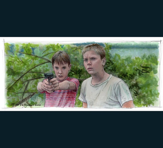 Stand By Me - Suck my fat one you cheap dime store hood Print By Jim Ferguson