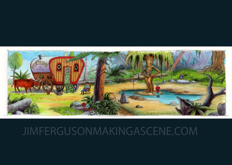 King's Quest V  Weeping Willow By Jim Ferguson image 0