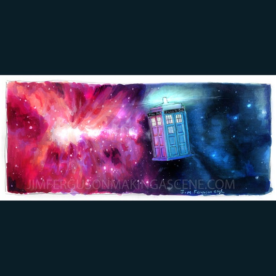 Dr Who- TARDIS Poster Print By Jim Ferguson