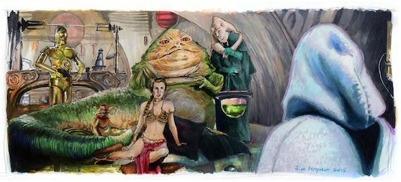 Star Wars- Return of the Jedi - Jabba's Palace Luke Skywalker jedi Knight Print