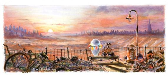 WALL-E - Wall-e and Eve  Poster Print