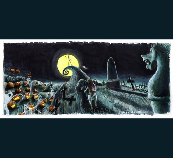 Nightmare Before Christmas - Jack's Lament Poster Print By Jim Ferguson
