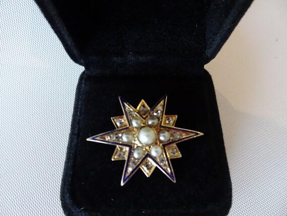 Rare Antique Star Brooch
