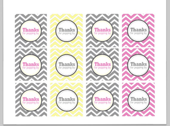 picture regarding Thanks for Popping by Free Printable known as Goods comparable in the direction of Because of For Popping By way of Chevron Want Tags