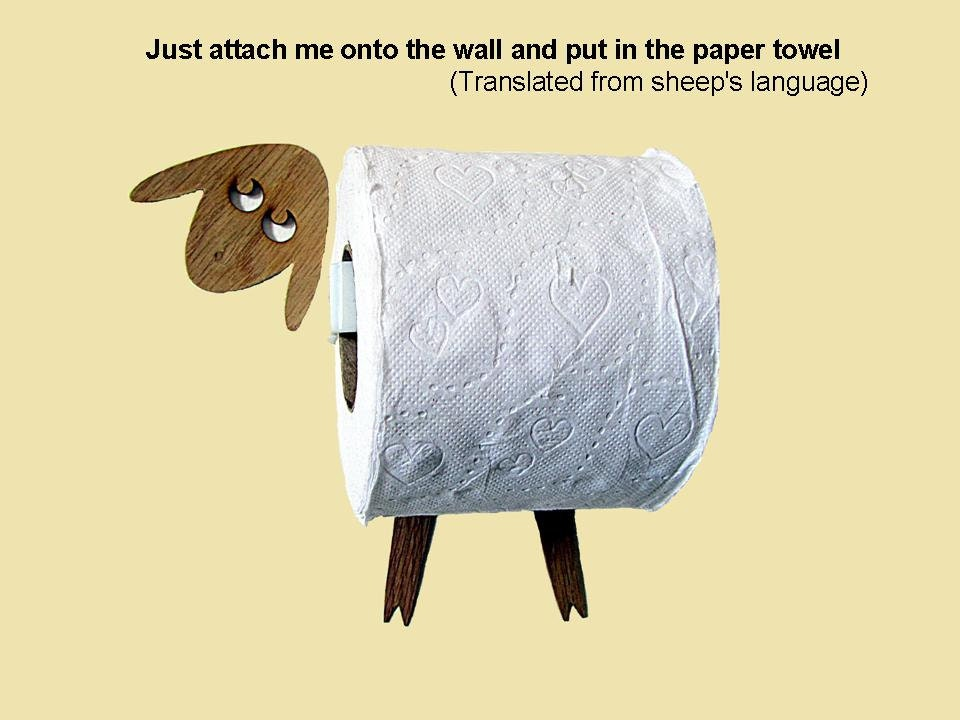Sheep Toilet Roll Holder Tissue Holder Funny Wall Decal Etsy