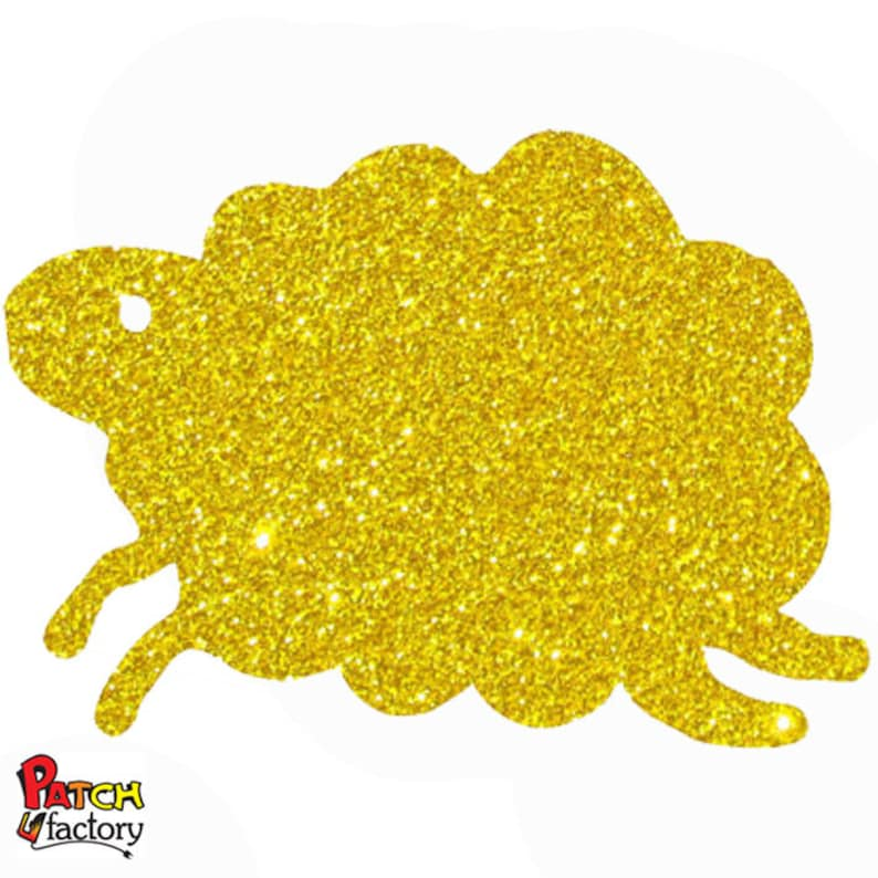 Sheep Glitter iron-on patch 24 colors