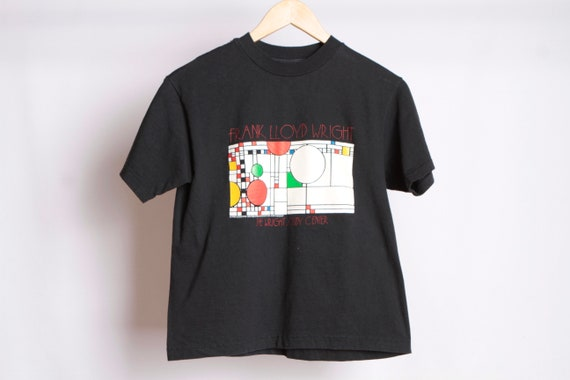 lloyd architectural frank official great black vintage top WRIGHT crop 1989 shirt t RARE vintage qY4TEE