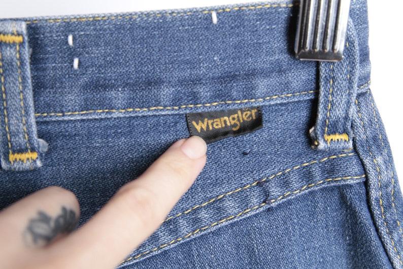 vintage FADED blue jeans high waisted WRANGLER artist painter/'s jeans pants vintage 1970s pants