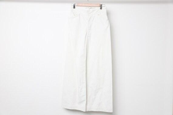 vintage mid-century WHITE wide leg SAILOR military