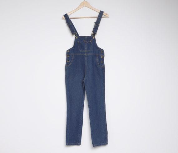 Grunge Summer Denim Jumpsuit Women/'s Small PASSPORTS Medium Wash Riot Grrl Festival Romper Shorts Vintage 90s Shortalls Overalls