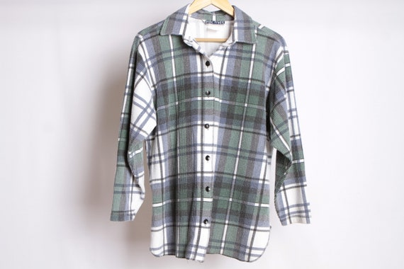2d8042e5d96a3 vintage NIRVANA faded plaid SOFT flannel shirt long sleeve