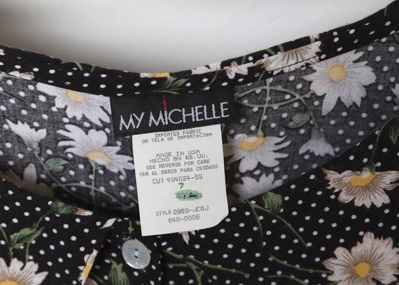 vintage 90s y2k floral jumper romper SUMMER dress… - image 4