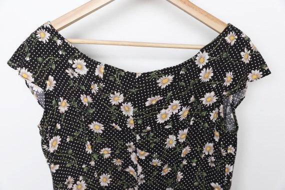 vintage 90s y2k floral jumper romper SUMMER dress… - image 3