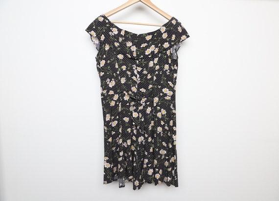 vintage 90s y2k floral jumper romper SUMMER dress… - image 1