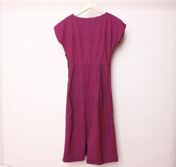 vintage MID-CENTURY purple/red marbled vintage 196