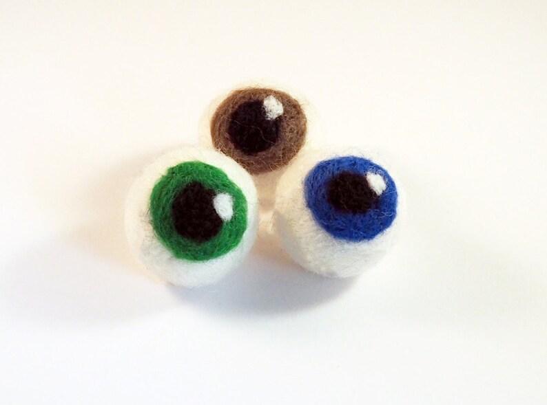 Cat balls set of 3 felt eye balls Halloween item best cat image 0