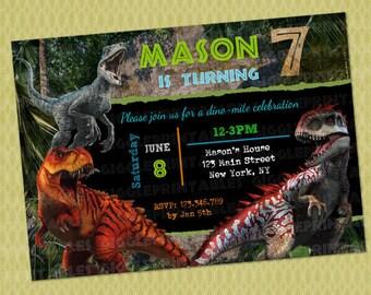 Jurassic World Invitation Dinosaur Birthday DIY Printable Digital File