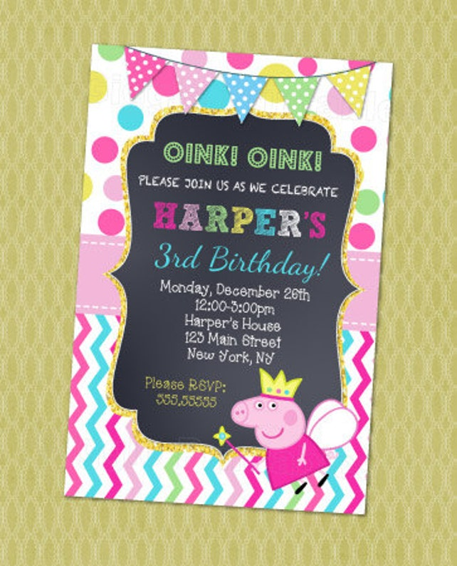 photo about Peppa Pig Printable Invitations identified as Peppa Pig Birthday Invitation, Peppa Pig Invitation , Peppa