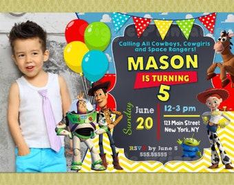 Toy Story Invitation, Toy Story Birthday Invitation, Toy Story Party Invitation, Thank You card, DIY Printable, Jesse