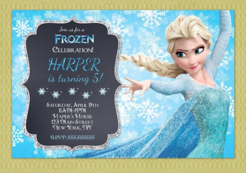 Frozen Elsa Birthday Invitation Elsa Birthday Invitation Etsy