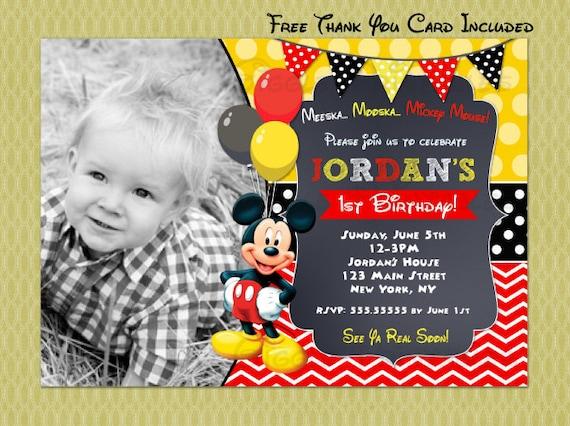 Mickey Mouse Birthday Invitation Invitations
