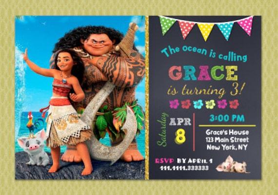 Moana Birthday Invitation Invitations DIY Printable