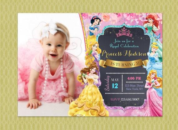 Disney Princess Invitation Birthday Invite