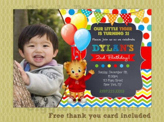 Daniel Tiger Invitation Birthday Invitations Party Invite Printables DIY
