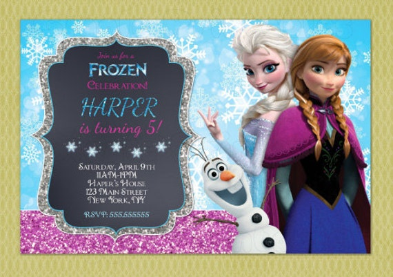 Frozen Birthday Invitation Elsa And Anna