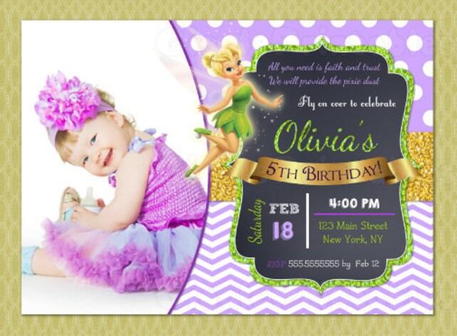 Tinkerbell birthday invitation tinkerbell invitations diy etsy image 0 filmwisefo