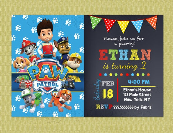 Paw Patrol Birthday Invitations DIY