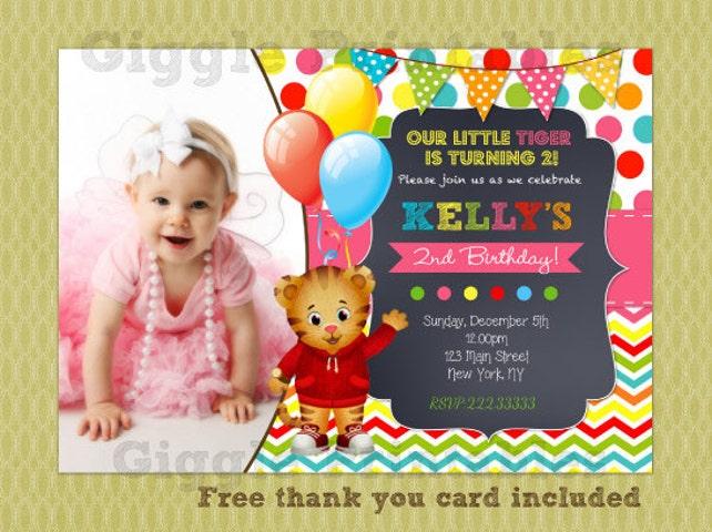 Daniel Tiger Birthday Invitation Invitations Party Invite Printables DIY