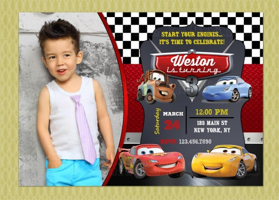 Cars Invitation Disney Birthday 3
