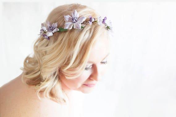 vigne de cheveux champ tre fleurs lilas fleurs lavande mari e. Black Bedroom Furniture Sets. Home Design Ideas