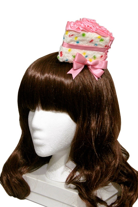 Bakery Sweets Cake Slice Fascinators and Headbands Many Cake and Frosting Flavors Available!