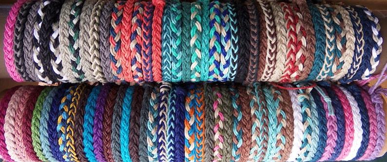 Hemp Bracelet Braided in Custom Colors you design.   Hippie image 1