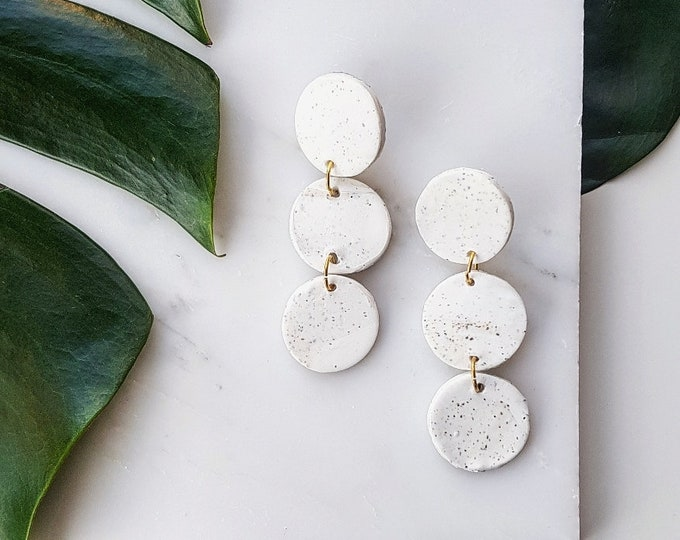 Featured listing image: Micah Earrings | Speckled creme