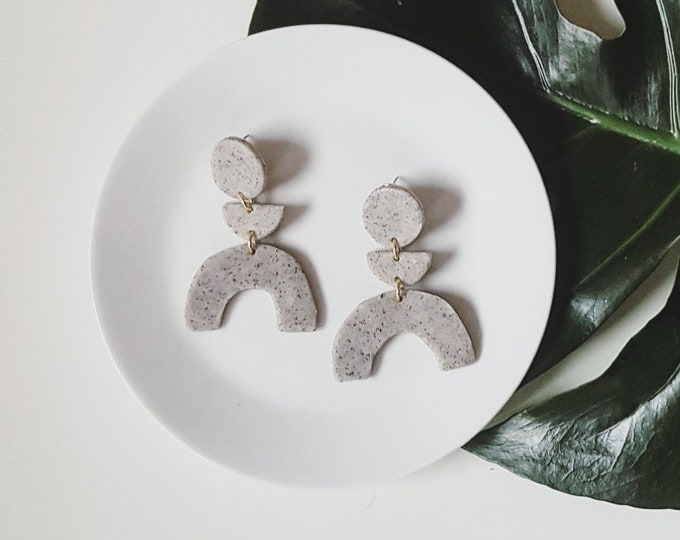Featured listing image: Celeste Earrings | Granite grey