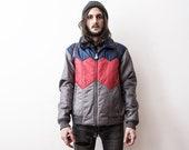1970s Ski Jacket Anorak Windbreaker . Puffer Jacket 70s Boho Quilted Down Jacket Rain Bomber Jacker Hooded 70s Tracksuit Jacket Sportswear