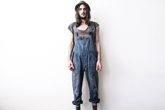 Herringbone Work dungarees 60s Workers Overall Cov